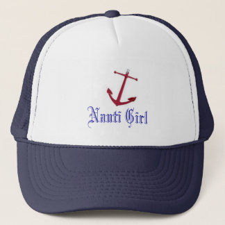 images.jpg red anchor, Nauti Girl Trucker Hat