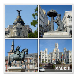Images of Madrid collection Poster