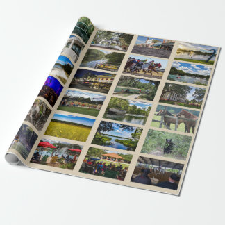 Images of Ocala with tan background Wrapping Paper