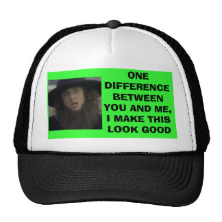 images, ONE DIFFERENCE BETWEEN YOU AND ME, I MA... Trucker Hat