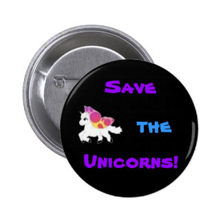 images, Save, the, Unicorns! 2 Inch Round Button