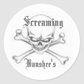 images, Screaming, Banshee's Classic Round Sticker