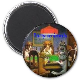 imagesCA0J2II6, Party animals 2 Inch Round Magnet
