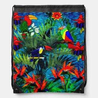 Imaginaire tropical sacs avec cordons