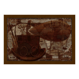 Imaginarium Steampunk Mixed Media Poster