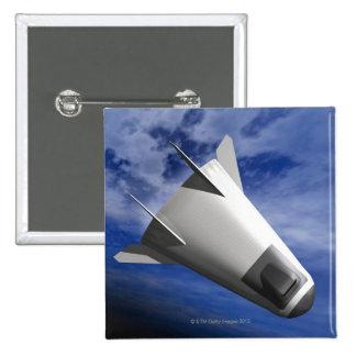 Imaginary Spacecraft 2 Inch Square Button