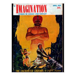 Imagination - 1953-4_Pulp Art Postcard