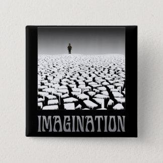 Imagination 2 Inch Square Button