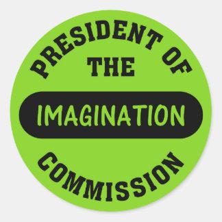 Imagination Commission President Round Sticker