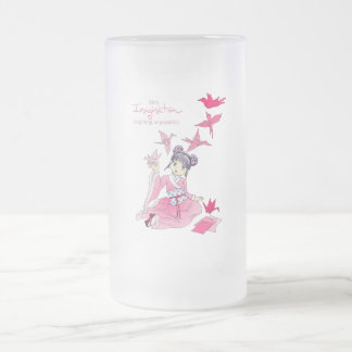 Imagination Frosted Glass Beer Mug