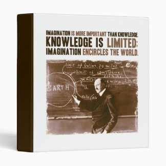 Imagination is more important than knowledge 3 ring binders