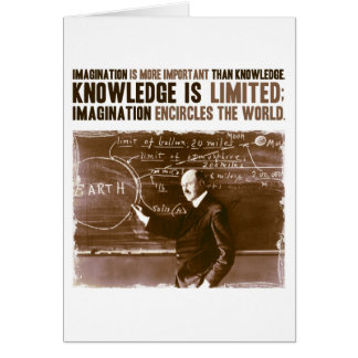 Imagination is more important than knowledge note card
