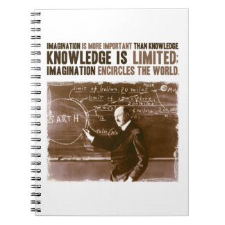 Imagination is more important than knowledge note books