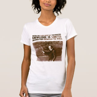 Imagination is more important than knowledge tee shirts