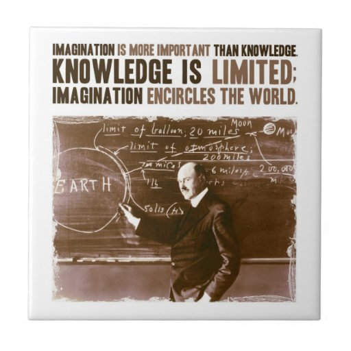 Imagination is more important than knowledge tile
