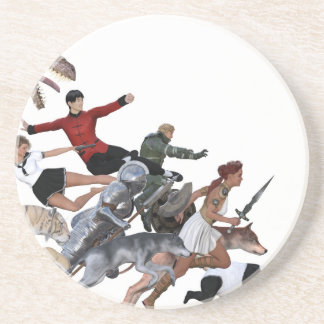 Imagination of a Child with Her Army of Friends Beverage Coaster