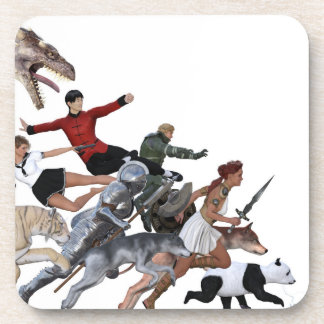 Imagination of a Child with Her Army of Friends Beverage Coasters