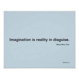 Imagination - poetry poster