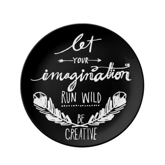 Imagination Porcelain Plate