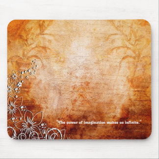 Imagination Quote Brown Design Series Mousepad