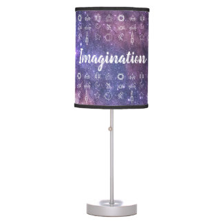 Imagination / Space Symbols Table Lamp