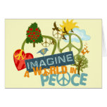 Imagine a World in Peace Greeting Cards