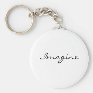 Imagine Basic Round Button Keychain
