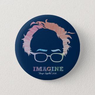 Imagine Bernie Sanders 2016 - watercolors 2 Inch Round Button
