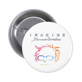 Imagine Bernie Sanders 2 Inch Round Button