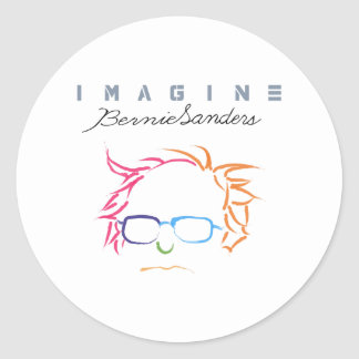 Imagine Bernie Sanders Round Sticker