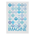 IMAGINE - Blue International Peace Signs