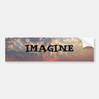 IMAGINE BUMPER STICKER