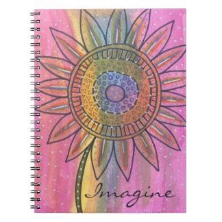Imagine Flower Spiral Notebooks