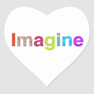 Imagine fun colorful inspiration gift heart sticker