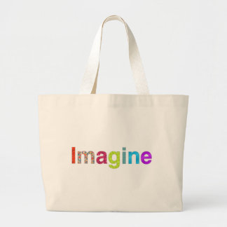 Imagine fun colorful inspiration gift large tote bag