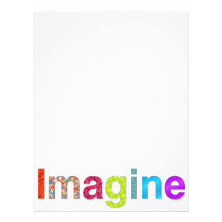 Imagine fun colorful inspiration gift letterhead