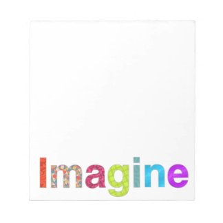 Imagine fun colorful inspiration gift notepad