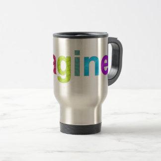 Imagine fun colorful inspiration gift travel mug