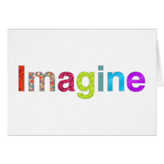 Imagine fun inspiration colorful Card