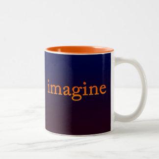 Imagine Glowing Two-Tone Coffee Mug
