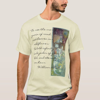 Imagine. Handpainted monoprint T-Shirt
