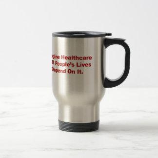Imagine Healthcare People's Lives Depend On Travel Mug