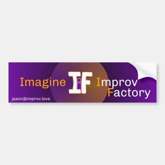 Imagine Improv Bumper Sticker 2016