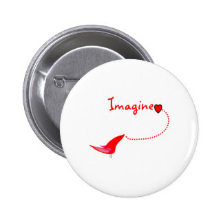 """Imagine""---John Gifts 2 Inch Round Button"