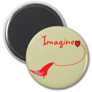 """Imagine""---John Gifts 2 Inch Round Magnet"