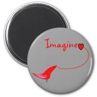 """Imagine""---John Gifts 2 Inch Round Magnet"
