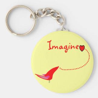 """Imagine""---John Gifts Basic Round Button Keychain"