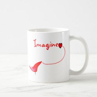 """Imagine""---John Gifts Classic White Coffee Mug"