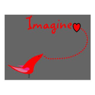 """Imagine""---John Gifts Postcard"