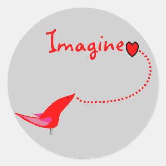 """Imagine""---John Gifts Round Sticker"